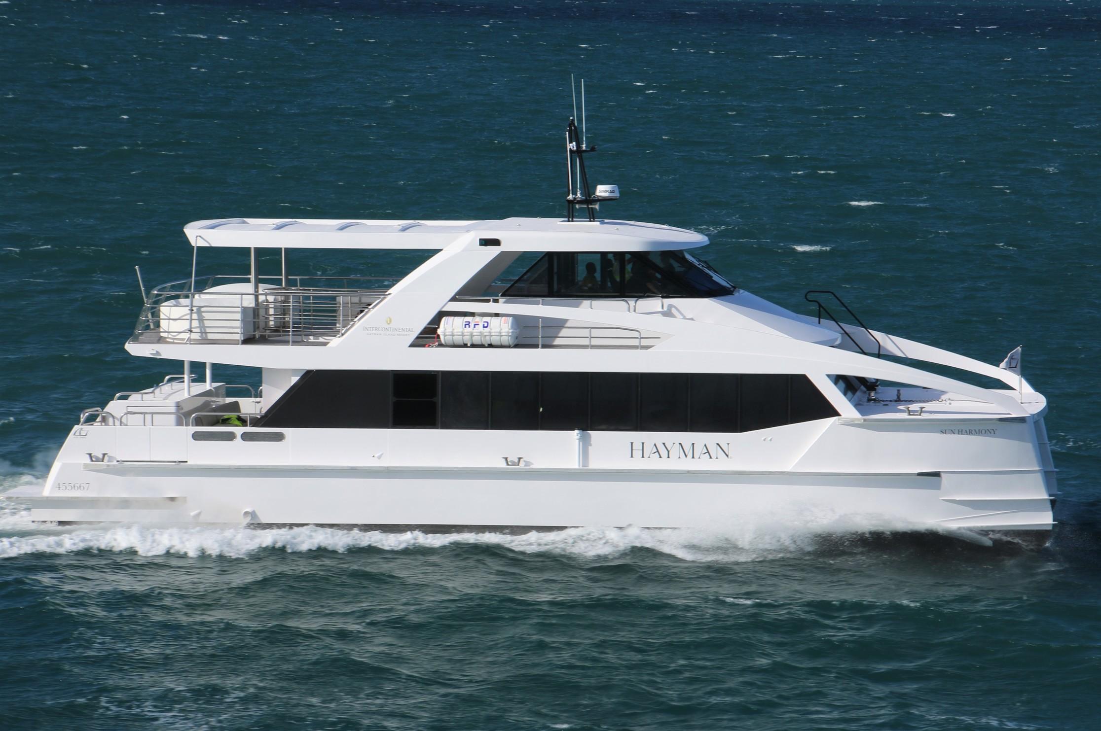 luxury ferry in waves