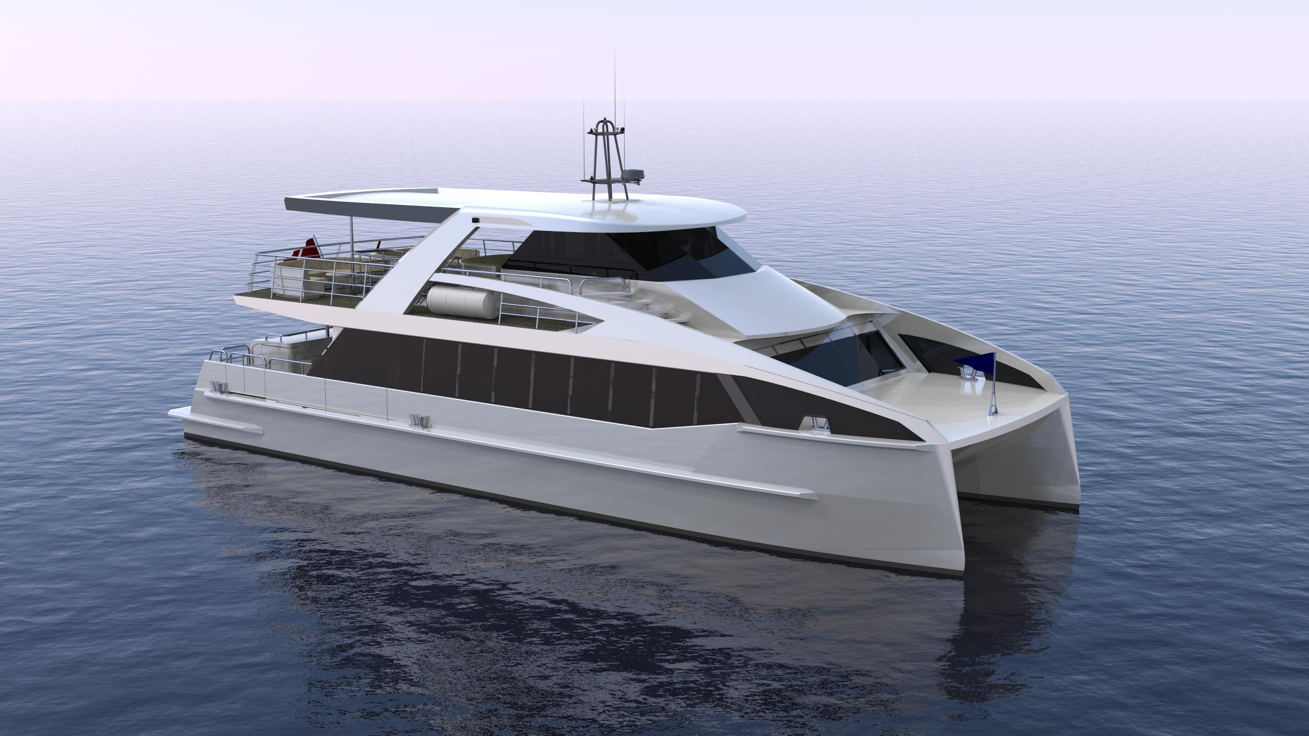 luxury passenger ferry concept render 2018