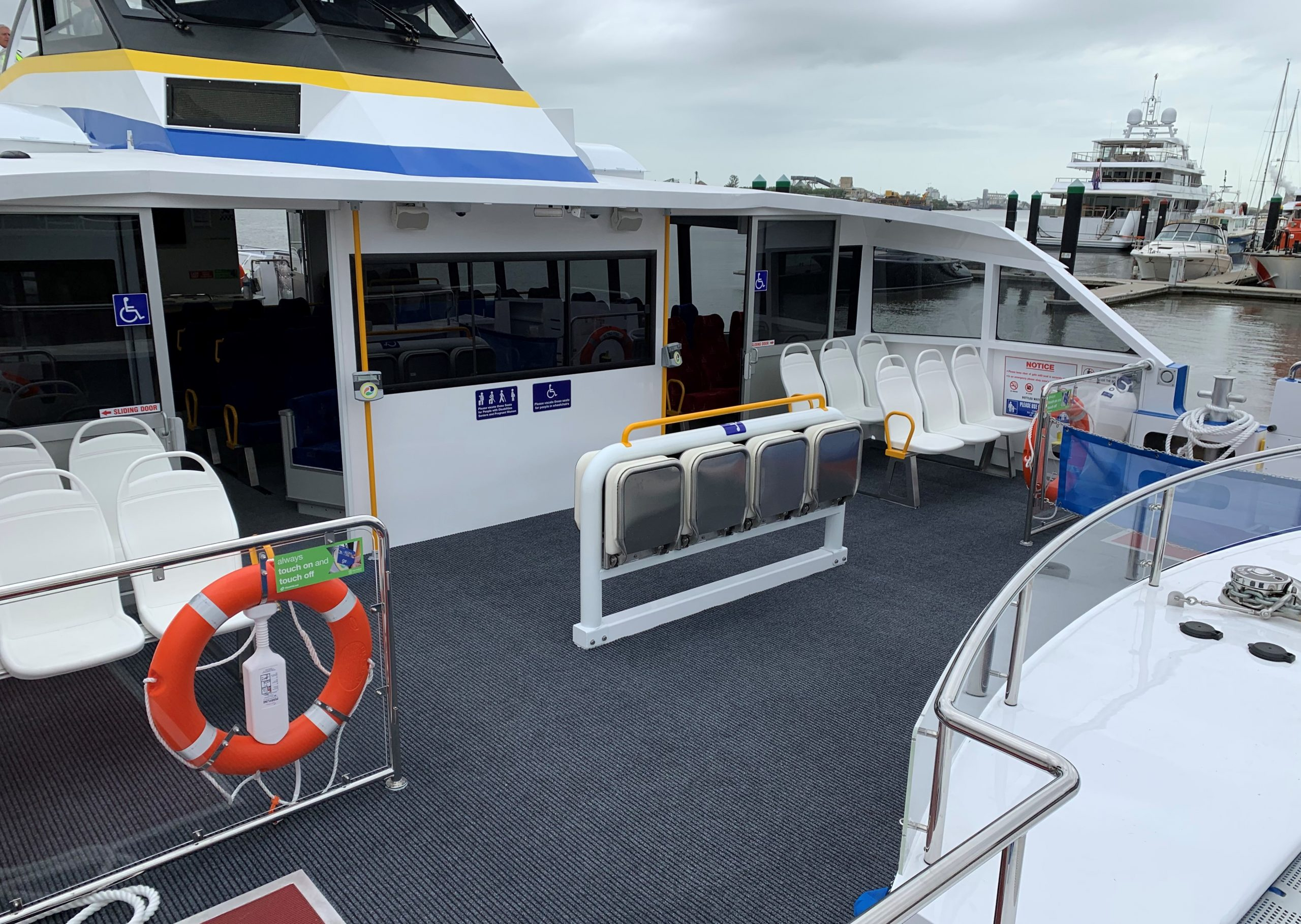new brisbane city cat foredeck