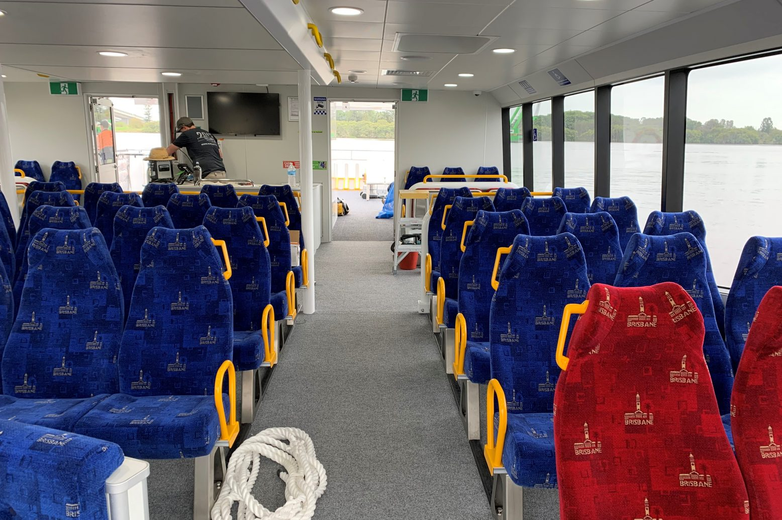 inside new brisbane city cat main cabin