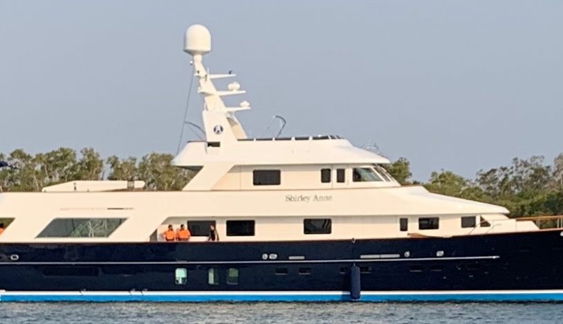 superyacht side view