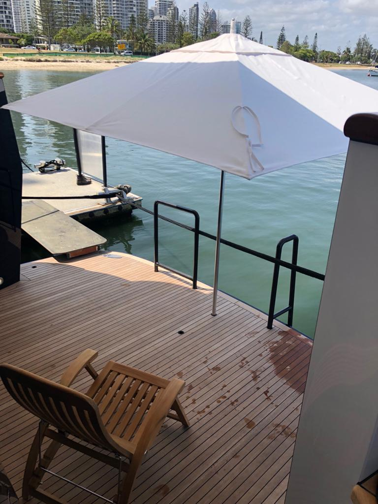 superyacht refit swim platform extension